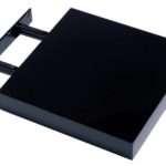 Abdabs Furniture Hudson High Gloss Black Floating Shelf