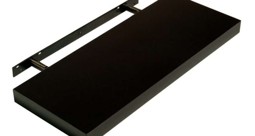 Abdabs Furniture Hudson High Gloss Black Floating Shelf