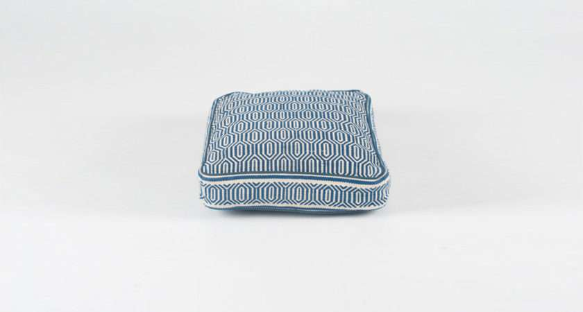Above Blue White Geometric Square Dog Bed Filly