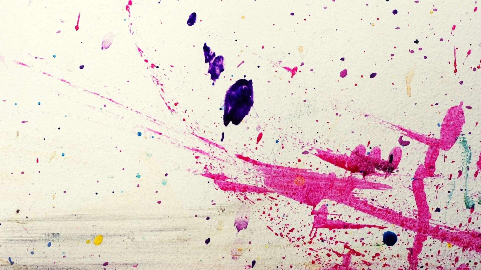 Abstract Splatter Paint High