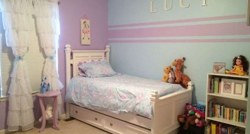 Accent Wall Stripes Little Girl Room Kristin Duvet