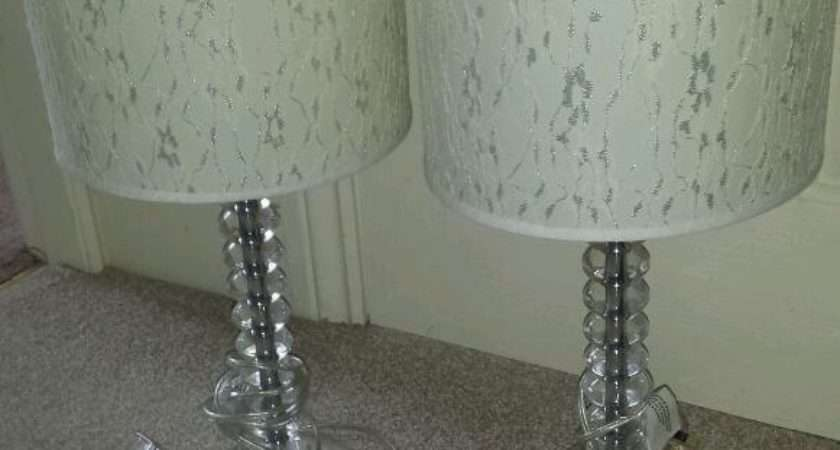 Acrylic Glass Bubble Effect Pair Table Bedside
