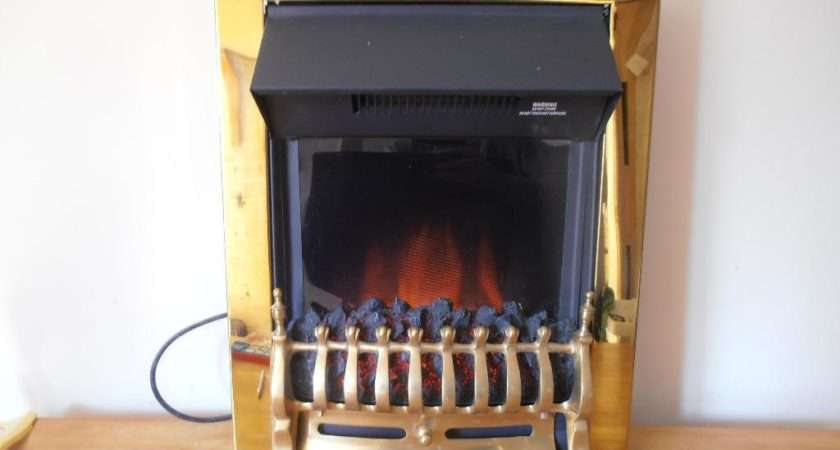 Adam Hertford Brass Electric Fire Realistic Flame Effect
