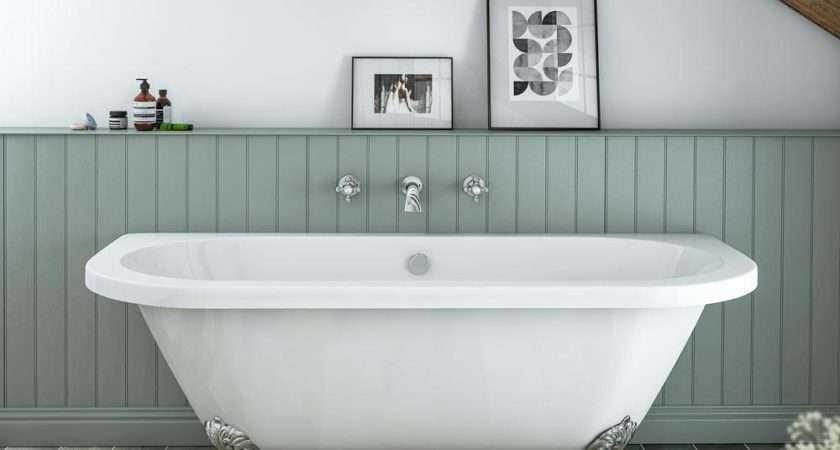 Admiral Back Wall Roll Top Bath Victorian