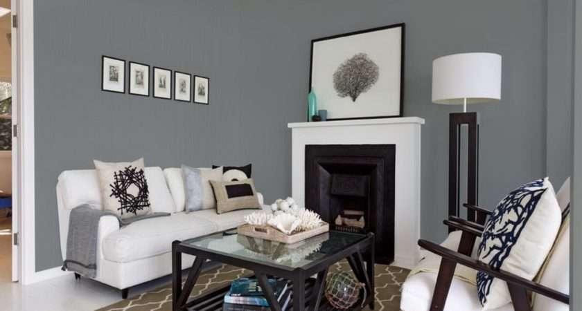 Adorable Living Room Cool Dark Grey Color Breathtaking