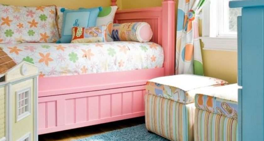 Adorable Pink Yellow Girl Bedroom Ideas Rilane