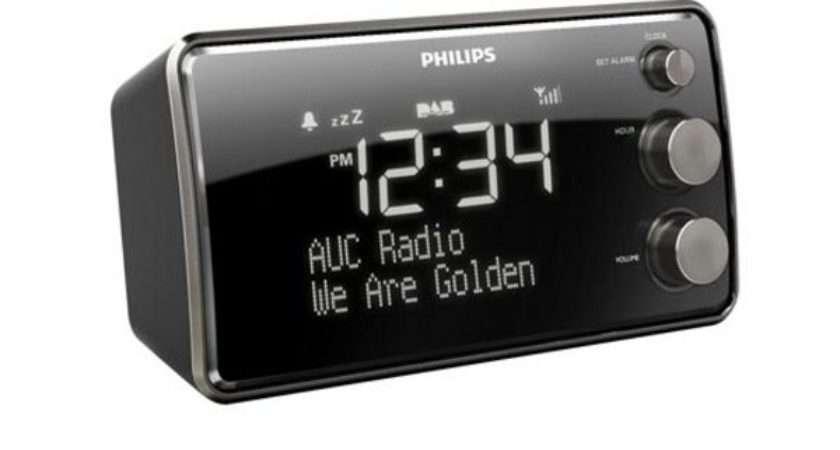 Ajb Philips Dab Clock Radio Black