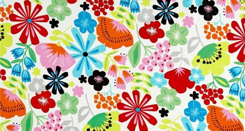 Alexander Henry Jersey Knit Pretty Poppy Natural
