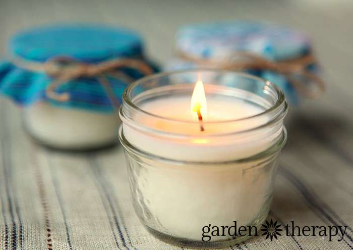 All Natural Candles Make Soy Beeswax Mason Jar