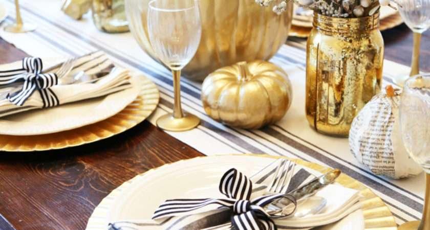All Set Black Gold Thanksgiving Table Dress Cori Lynn
