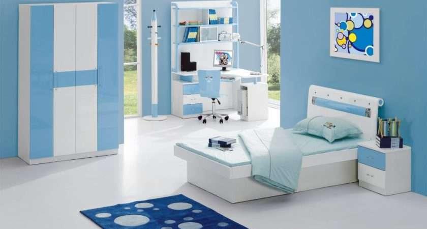 Alluring Blue Kids Bedroom Interior Designs Ideas White
