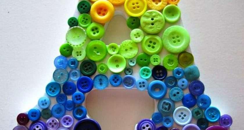 Alphabet Button Craft Ideas Creative Art