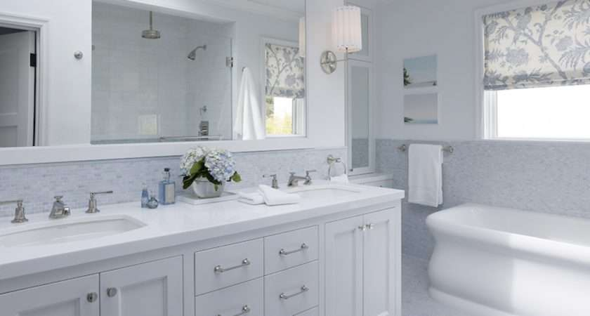 Amazing Elegant Stunning White Bathroom Ideas Blue