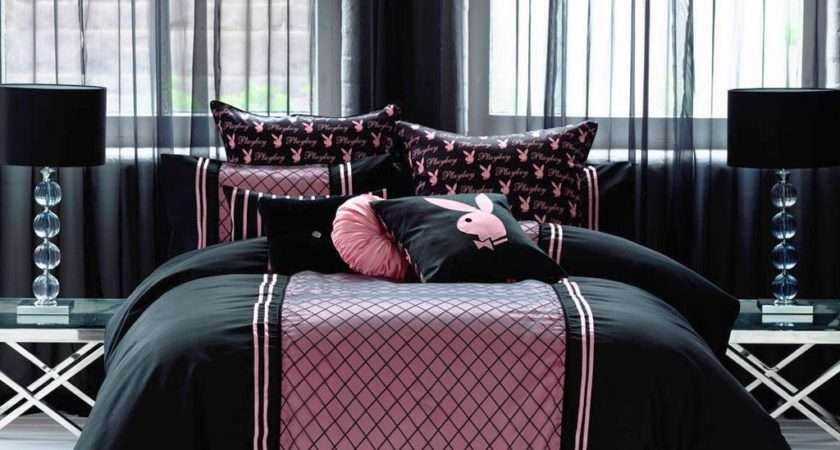 Amazing Pink Black Bedroom Decor