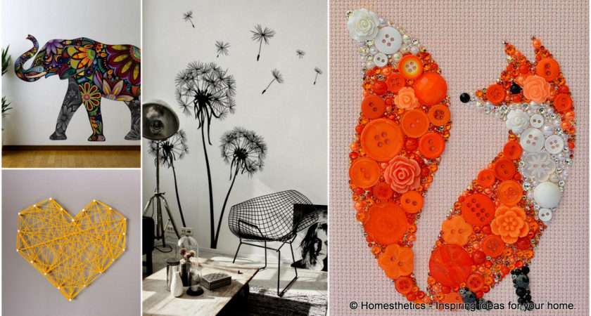 Amazing Wall Art Ideas Can Yourself Bring