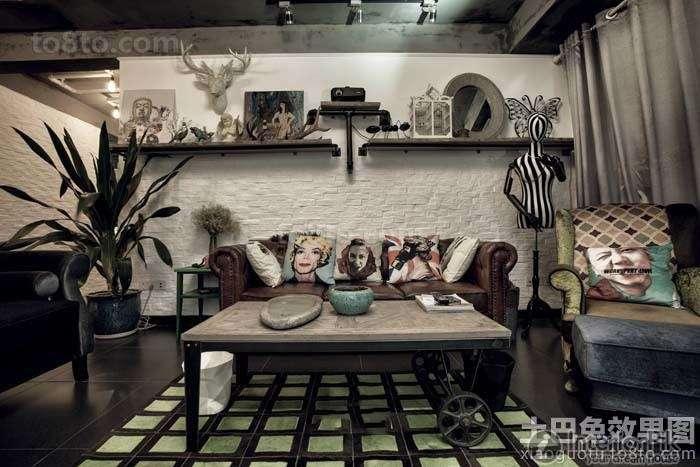 American Antique Living Room Interior Design