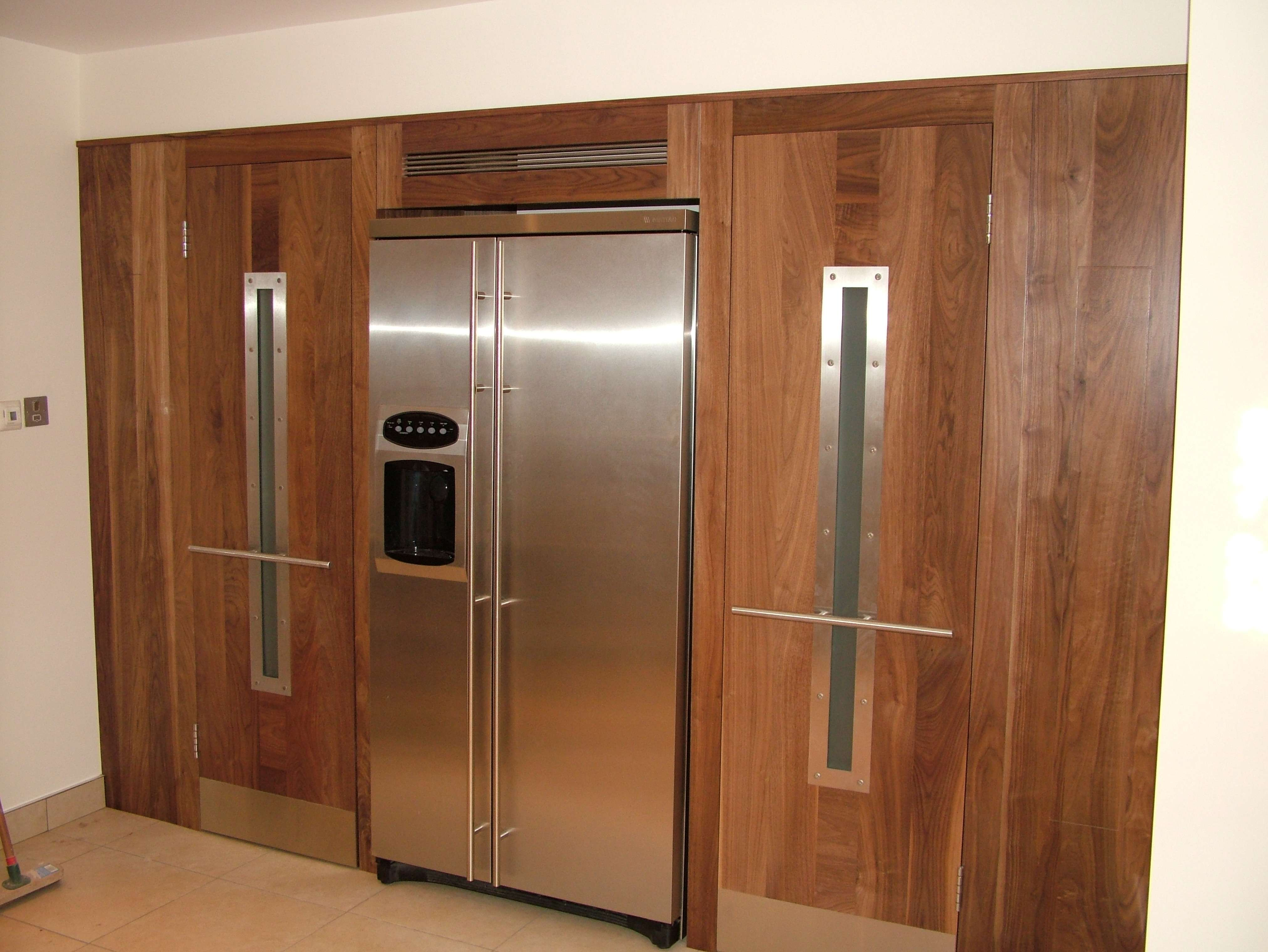 American Fridge Freezer Unit Surrounded Custom Built Walk