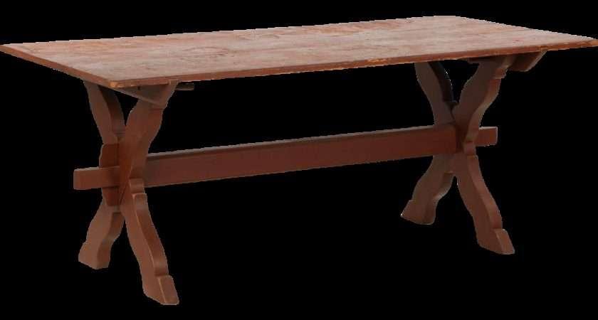 American Scrubbed Pine Farm Table Trestle Base