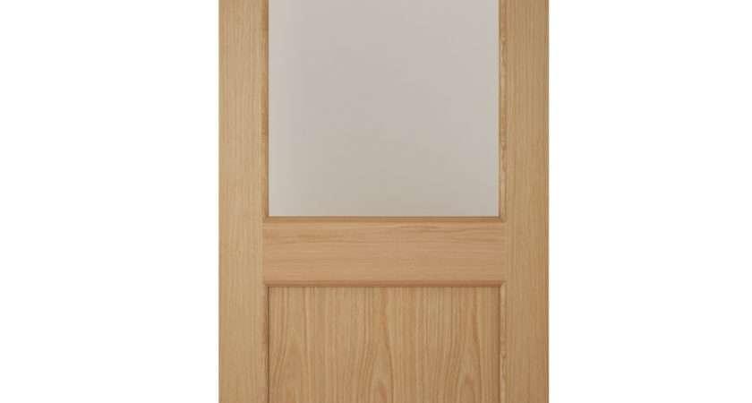 American White Oak Veneer Glazed Back Door