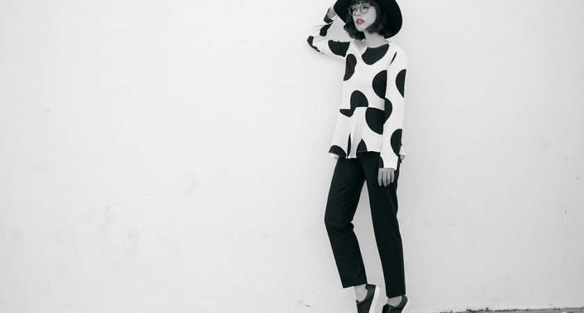 Amy Roiland Marks Spencer Top Polka Dot Blues Lookbook