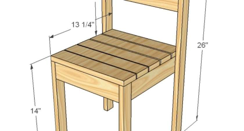 Ana White Four Dollar Stackable Children Chairs Diy