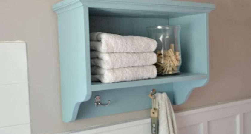 Ana White Martina Bath Wall Storage Shelf Hooks