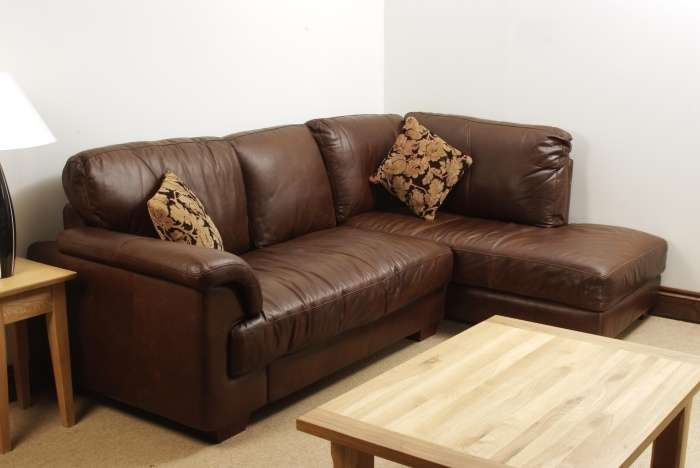 Aniline Leather Corner Sofa Oak Furniture Solutions