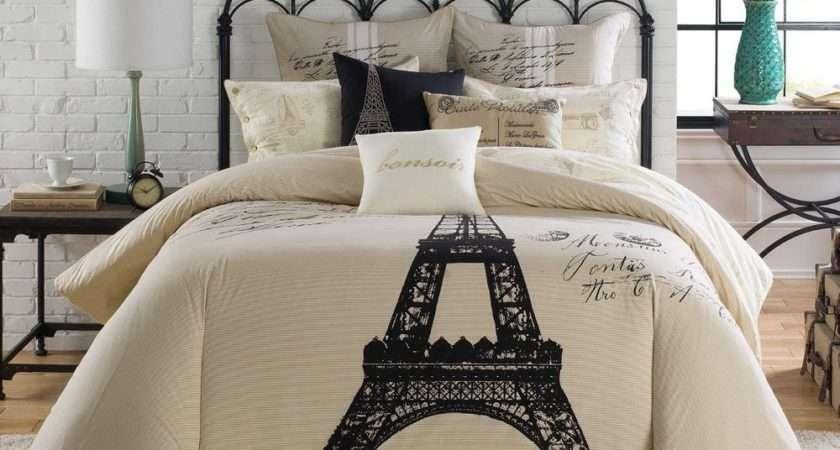 Anthology Paris King Comforter Set Pillows Eiffel