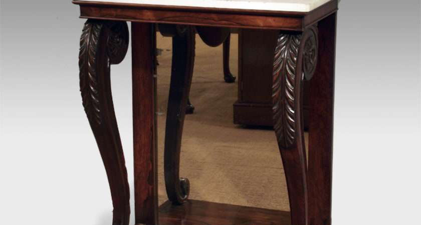 Antique Console Table Rosewood Small