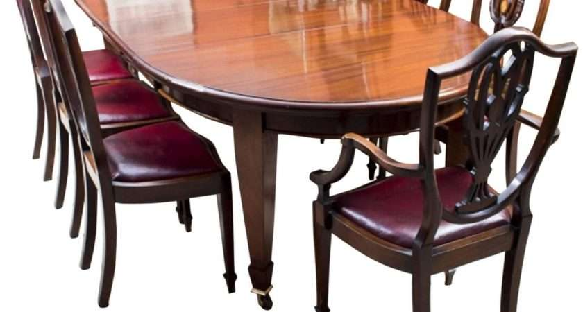 Antique Edwardian Dining Table Chairs Ref