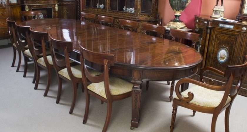Antique Edwardian Dining Table Chairs