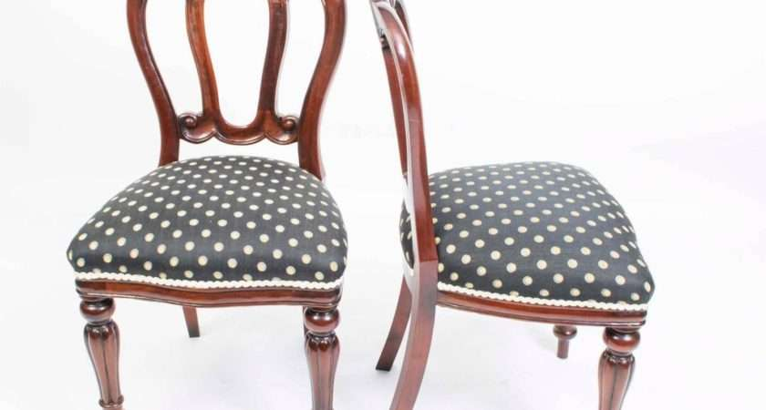 Antique Edwardian Dining Table Eight Chairs Circa