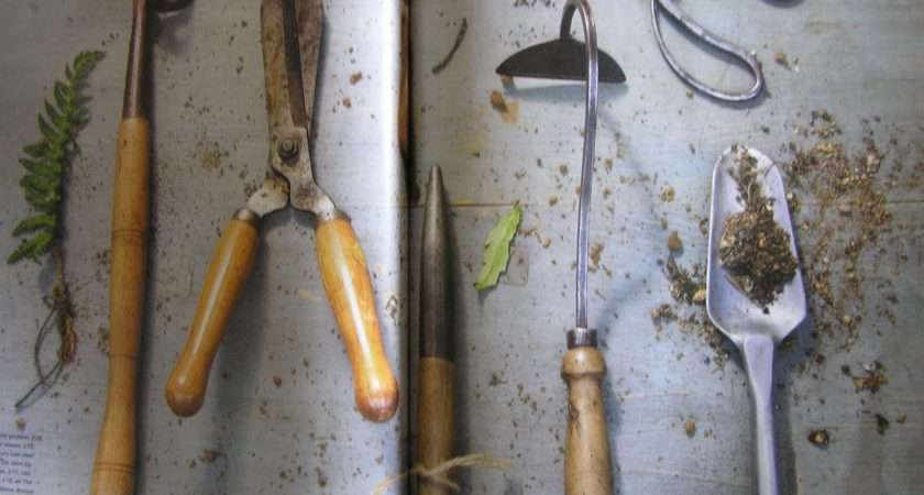 Antique English Garden Tools Tasmanian Gardens