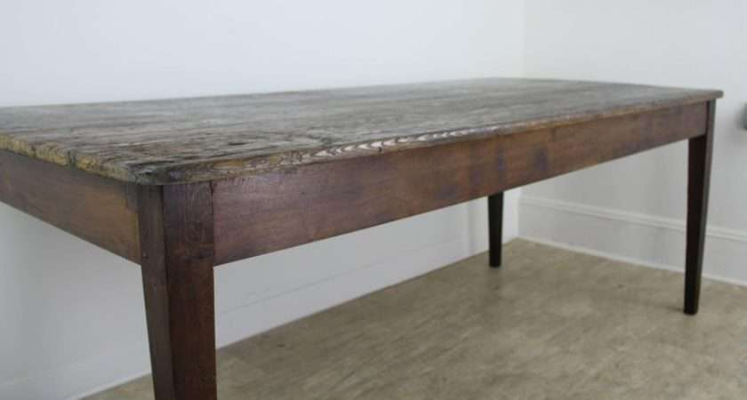 Antique French Scrubbed Top Pine Farm Table Sale