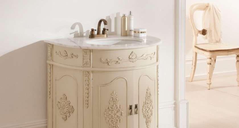 Antique French Vanity Unit Ivory Bathroom Furniture