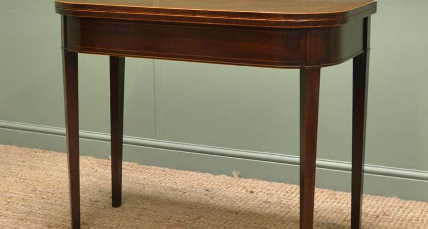 Antique Georgian Mahogany End Games Table Console