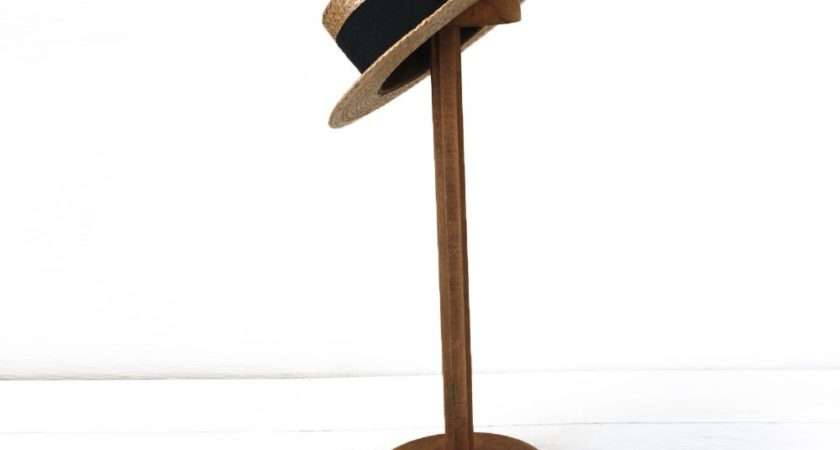 Antique Large French Hat Display Stand Wooden
