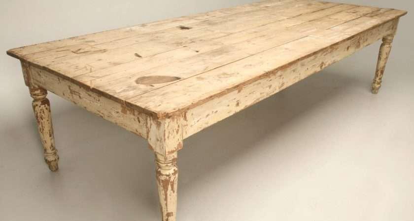 Antique Scrubbed Pine Farm Table