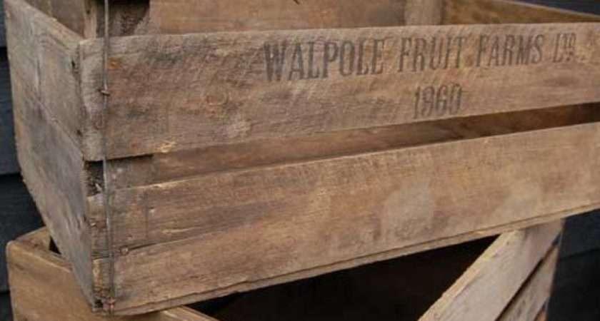 Antiques Atlas Vintage Wooden Apple Crate