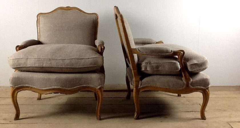 Anton French Thc Bergere Armchairs Natural