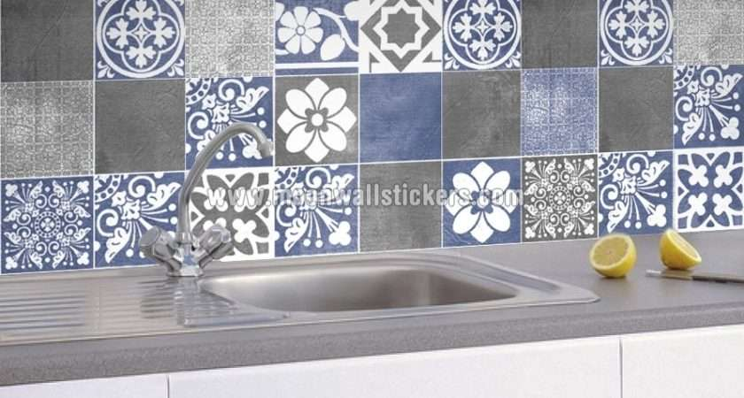 Apply Tile Stickers Moon Wall