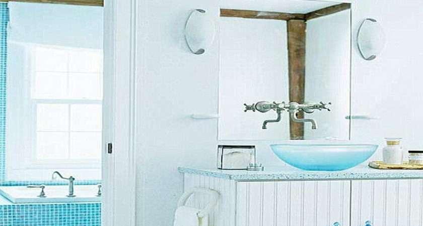 Aqua Blue Bathroom Using Shades Home Decor