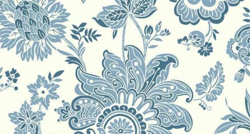 Arabella Blue Design York Wallcoverings