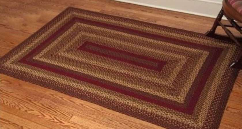 Area Rugs Home Lights Country Style Braided Jute