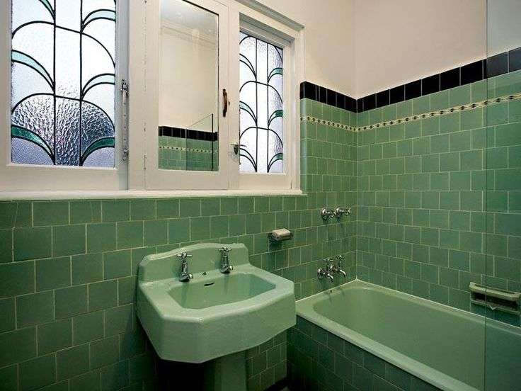 Art Deco Bathroom Melbourne Bath Pinterest
