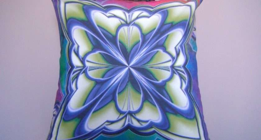 Art Deco Throw Cushion Cover Pillow Effect