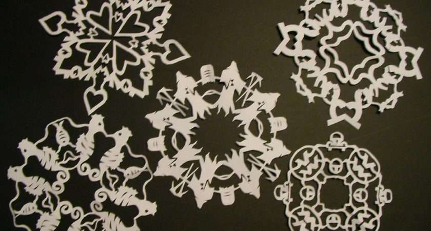 Art Paper Snow Flake Making Now These Ain Your Mama
