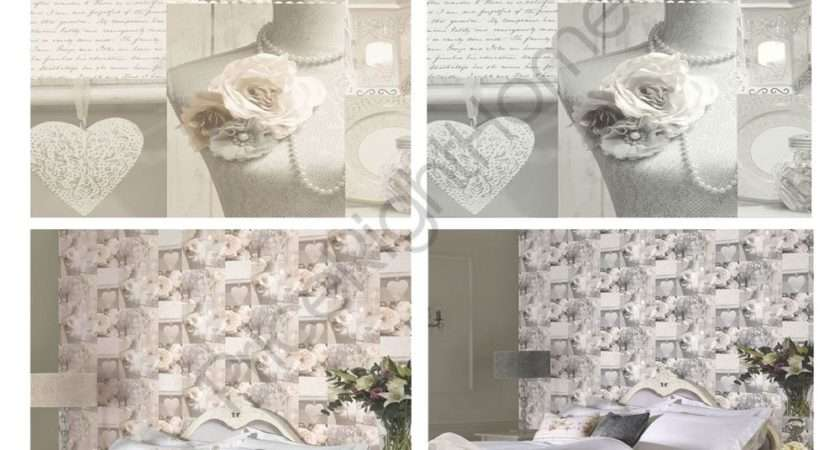 Arthouse Charlottle Floral Shabby Chic Grey
