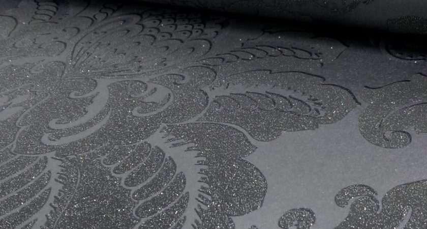 Arthouse Glisten Damask Pattern Floral Metallic Glitter