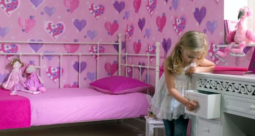 Arthouse Happy Hearts Flowers Childrens Kids Bedroom
